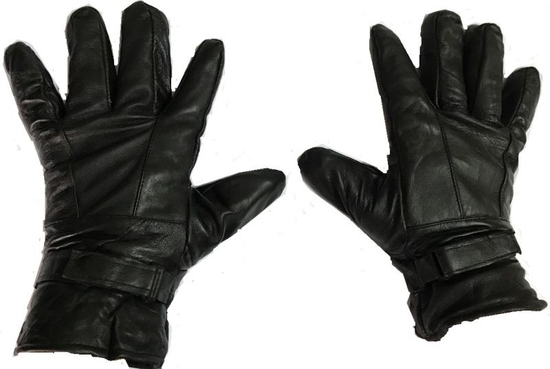 Buy Sphinx Leather Winter And Riding Gloves For Men - Black (large) online
