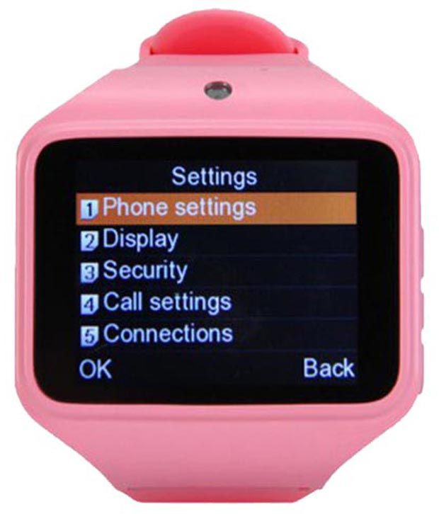 Buy Kenxinda Pink Silicon Automatic Smartwatch online