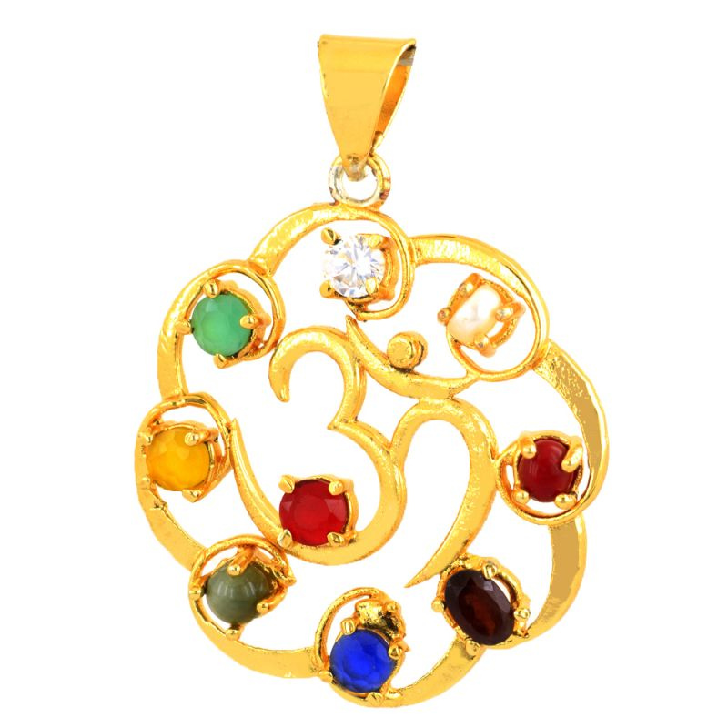Buy Nirvanagems 3.25 Ratti Each Navratna Gemstone Pendant online