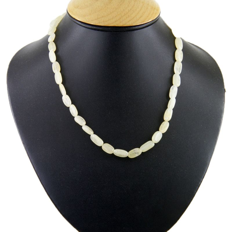 Buy Nirvanagems Natural 18 Inches 110 Ct Moonstone Gemstone Necklace online