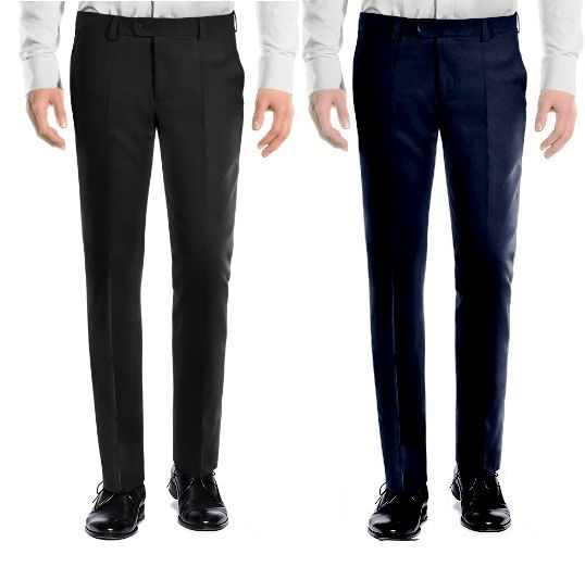 Buy Amar Deep Formal Trouser Pack Of 2 - Black Blue online