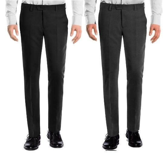 Buy Amar Deep Formal Trouser Pack Of 2 - Black Grey online