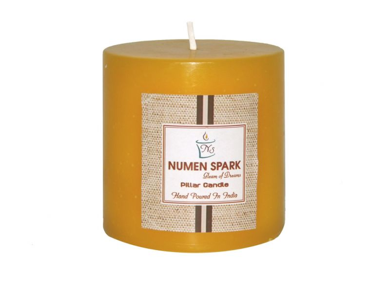 Buy Antique Sandalwood Scented Smooth Pillar Candle (3 Inch X 3 Inch) online