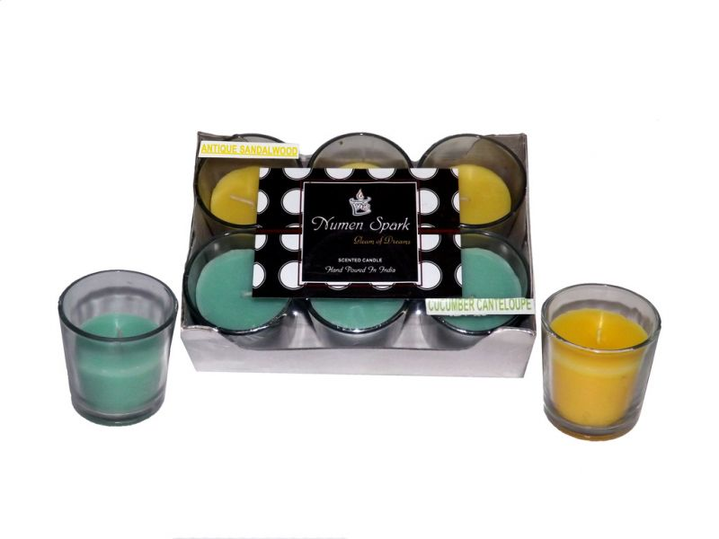Buy Antique Sandalwood-cucumber Cantaloupe Dual-scent Votive Candle (pack Of 6) online