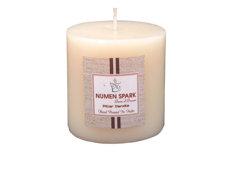 Buy Vanilla Caramel Scented Smooth Smooth Pillar Candle (3 Inch X 3 Inch) online