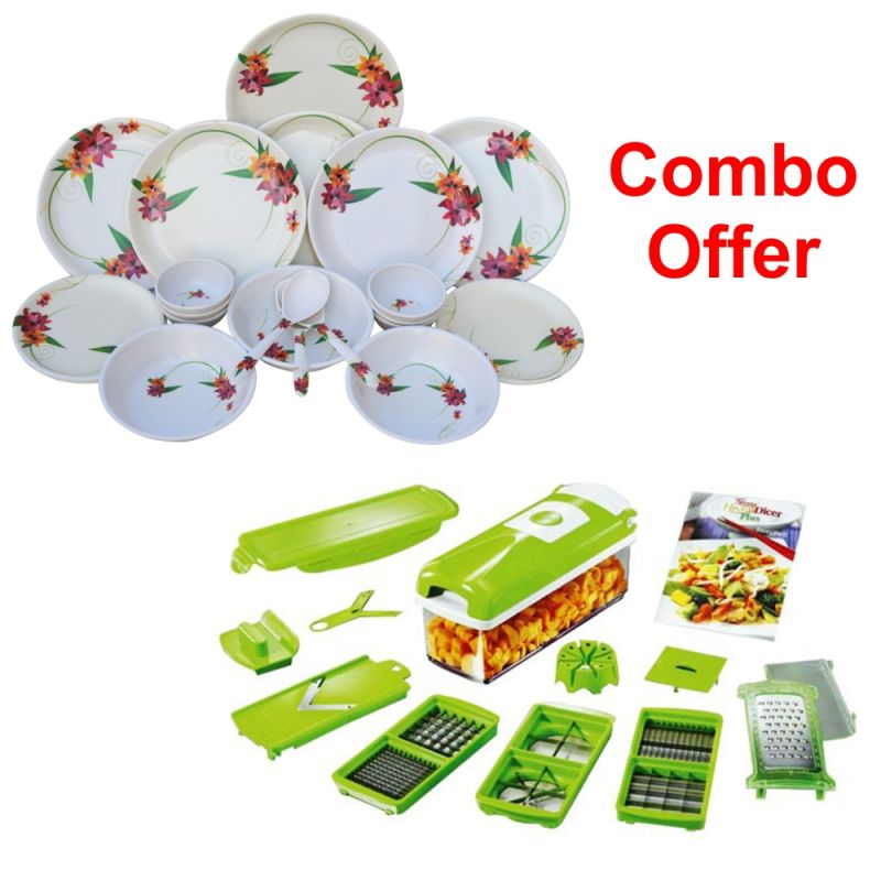 Buy Czar Combo Of 1011 Dinner Set With Snap Chopper online