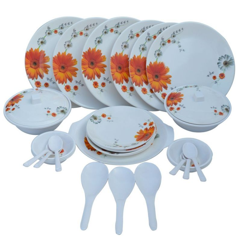 Buy Czar Dine Smart Stylon 32 Pic Dinner Set-sun Flower online