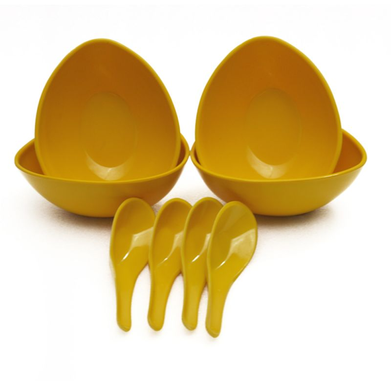 Buy Czar Mixing 4 Bowl Set With Spoon-yellow online
