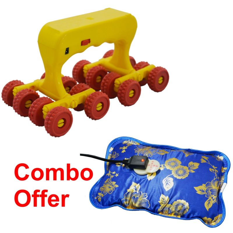Buy Czar Combo Of Medirelax Roller With Warm Bag Heating Pad online