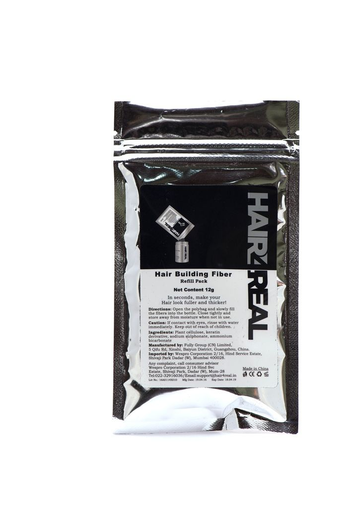 Buy Hair4real Hair Building Fibre 12g Refill Pack Suitable For Rebuilds, Looks21, Caboki,toppik, Etc. online