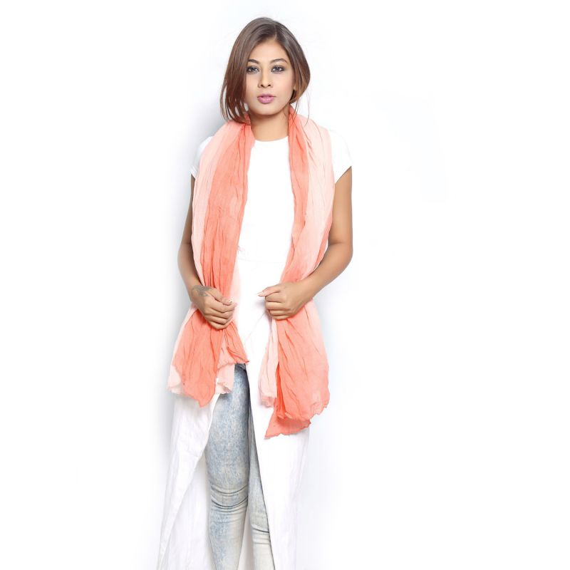 Buy Grishti Women's Ombre Coral Scarf Gg11plaincoral-co online