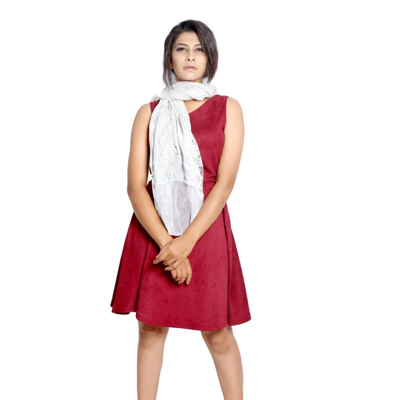 Buy Grishti Women's White Lace Scarf Gg9bwhite-white online