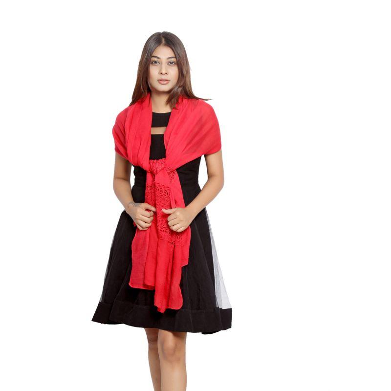 Buy Grishti Women's Dark Pink Scarf Gg21darkpink-darkpink online