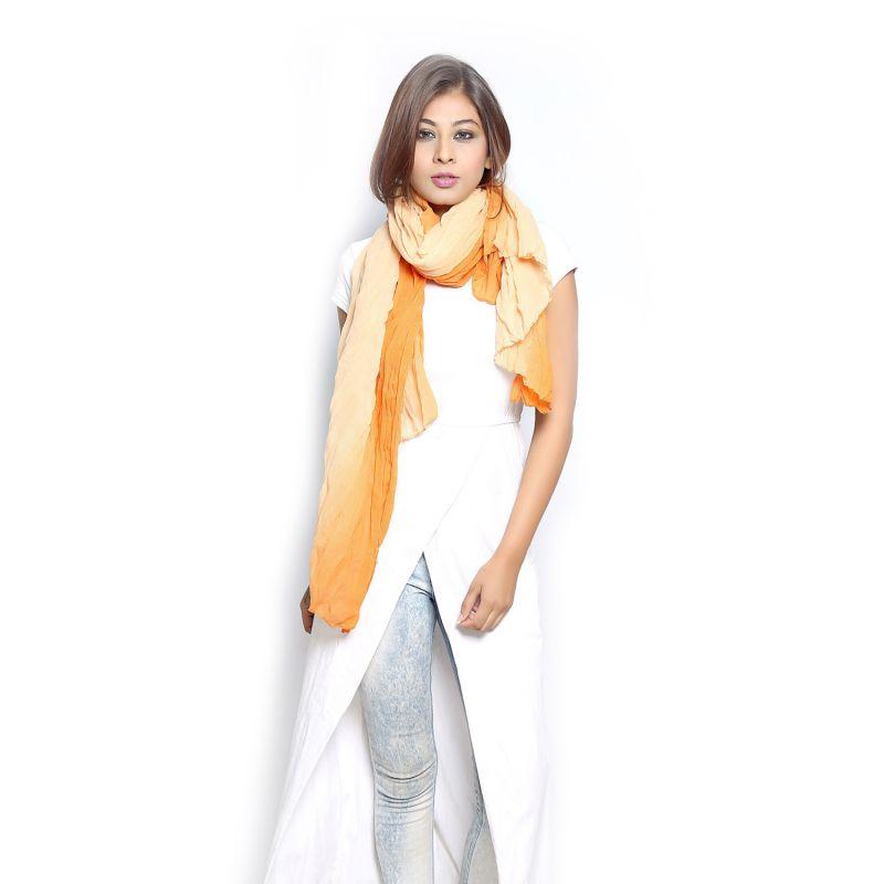 Buy Grishti Women's Ombre Mustard Scarf Gg11plainmustard-mu online