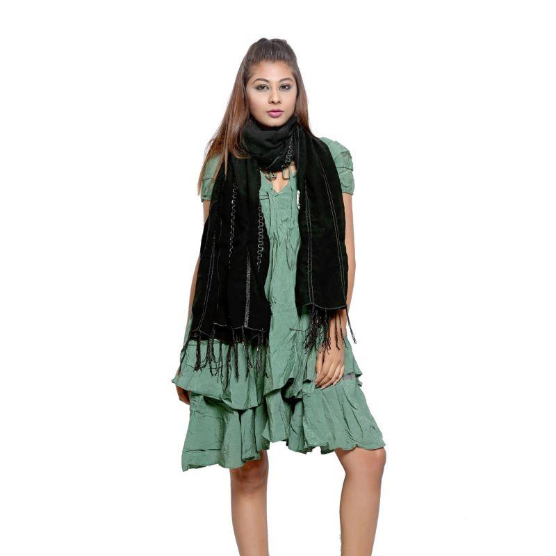 Buy Grishti Women's Black Stole Nigar-black online