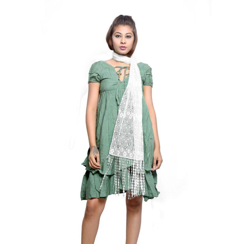 Buy Grishti Women'S White Lace Stole online