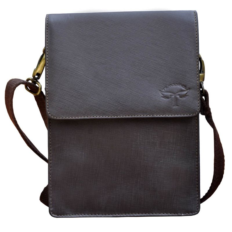 Buy Tamanna Men & Women Brown Genuine Leather Sling Bag Online ...