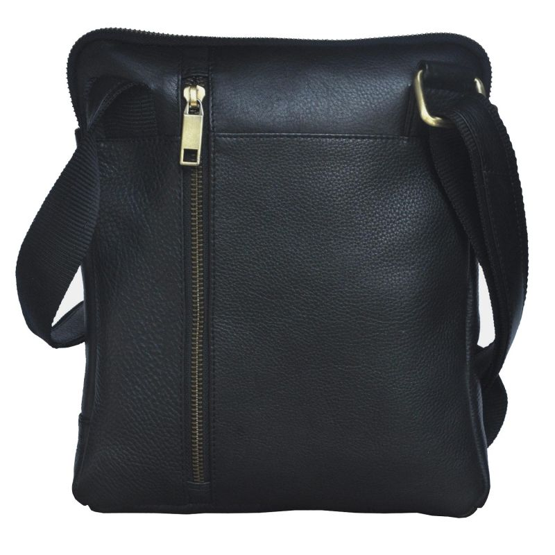 Buy Tamanna Men & Women Black Genuine Leather Sling Bag Online ...