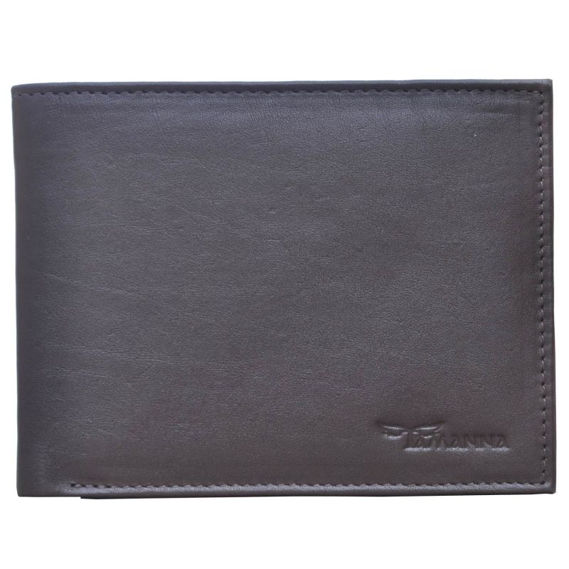 Buy Tamanna Men Dark Brown Genuine Leather Wallet (6 Card Slots) online