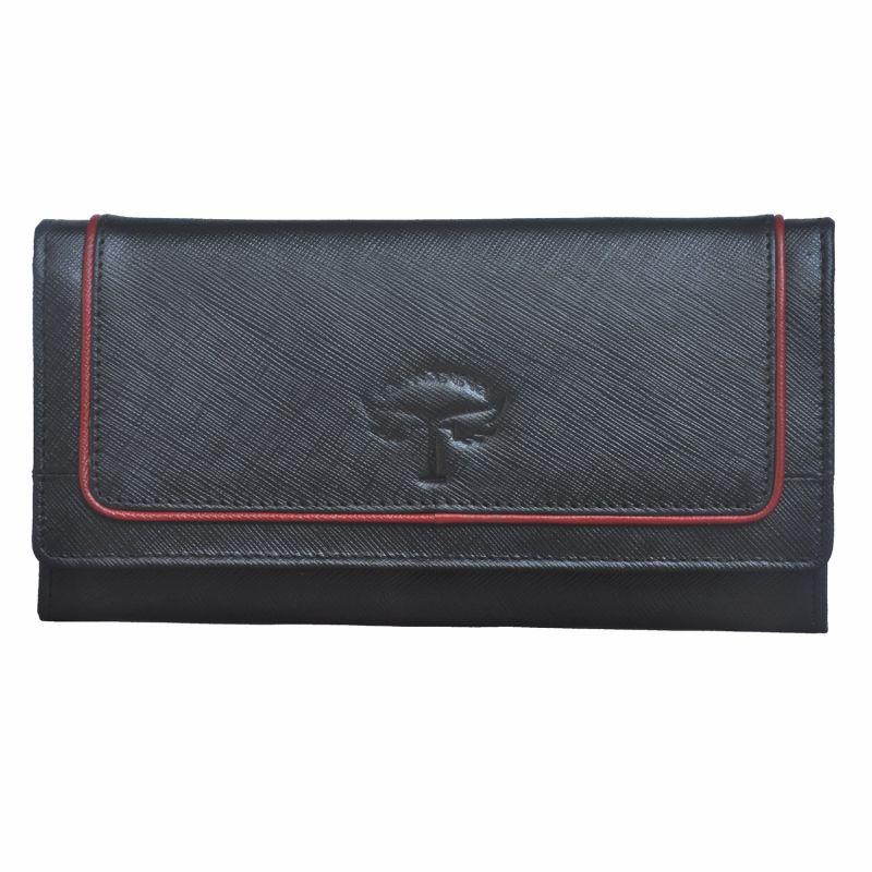 Buy Tamanna Women Black, Red Genuine Leather Wallet (10 Card Slots) online
