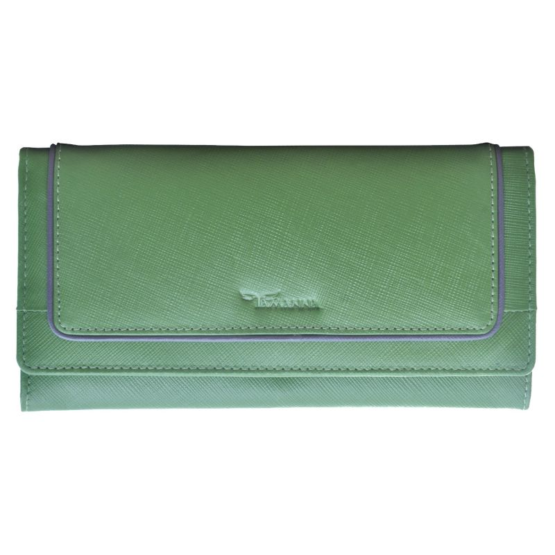 Buy Tamanna Women Green Genuine Leather Wallet (8 Card Slots) online