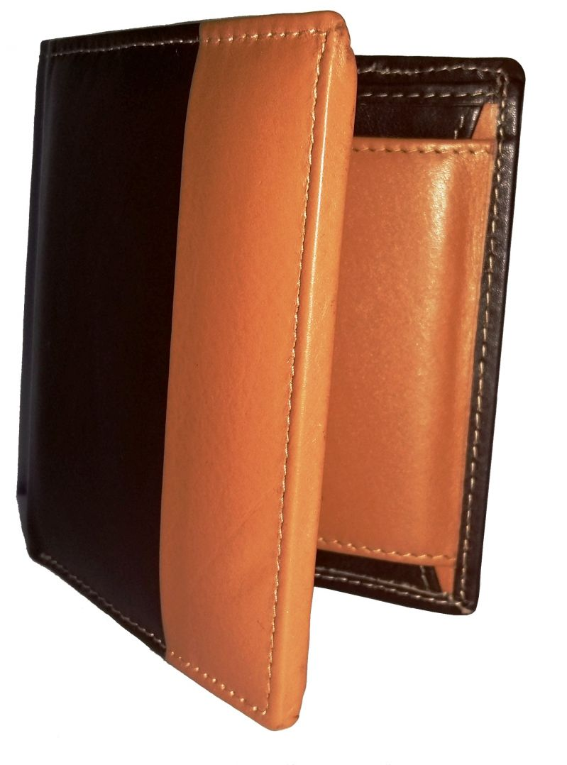 Buy Getsetstyle Men Golden Brown 100% Genuine Leather Wallet online