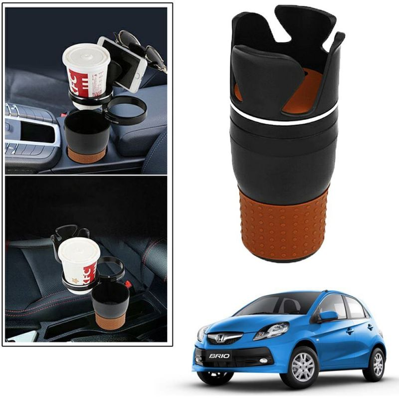 Buy Autoright 5-in-1 Car Cup / Car Sunglass / Car Mobile Holder Storage Cup For Honda Brio online