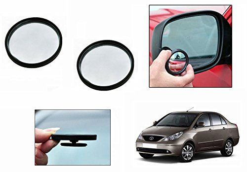Buy Autoright 3r Round Flexible Car Blind Spot Rear Side Mirror Set Of 2-tata Indigo online