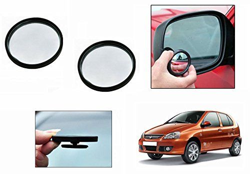 Buy Autoright 3r Round Flexible Car Blind Spot Rear Side Mirror Set Of 2-tata Indica online