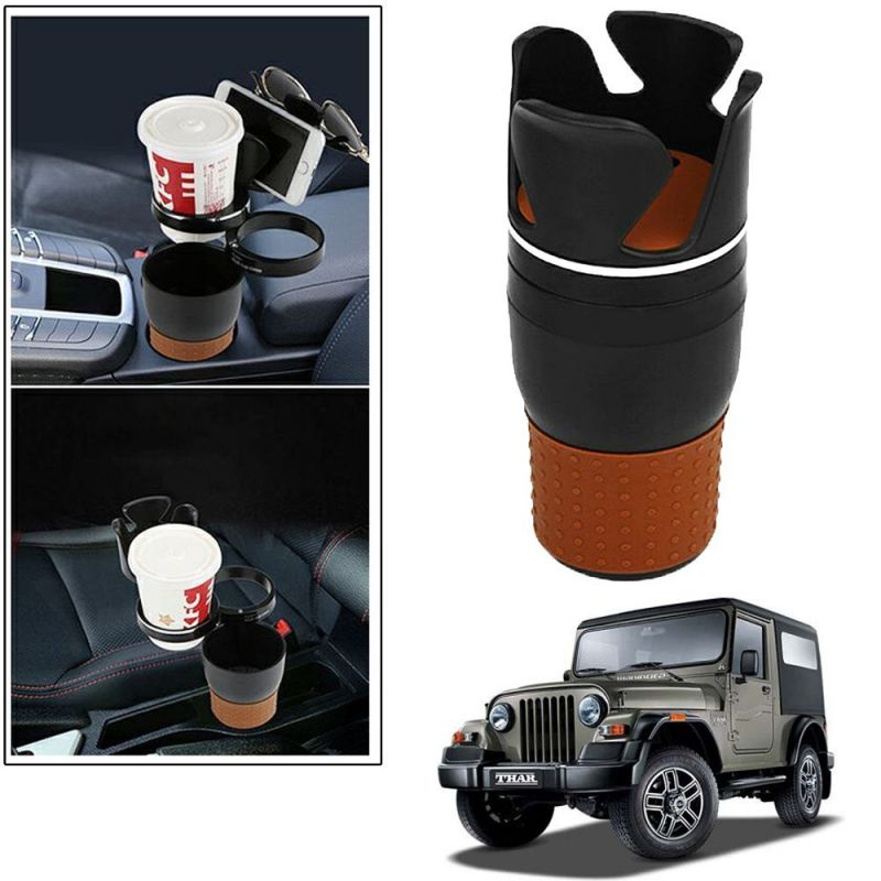 Buy Autoright 5-in-1 Car Cup / Car Sunglass / Car Mobile Holder Storage Cup For Mahindra Thar online