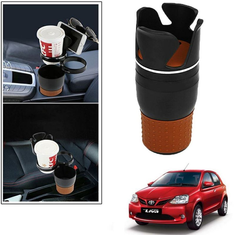 Buy Autoright 5-in-1 Car Cup / Car Sunglass / Car Mobile Holder Storage Cup For Toyota Etios Liva online