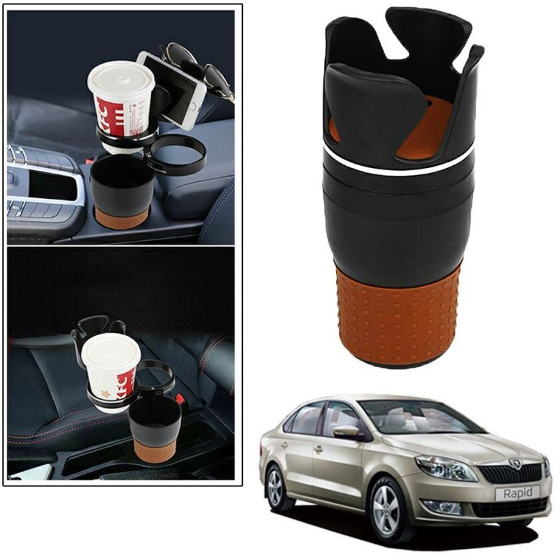 Buy Autoright 5-in-1 Car Cup / Car Sunglass / Car Mobile Holder Storage Cup For Skoda Rapid online