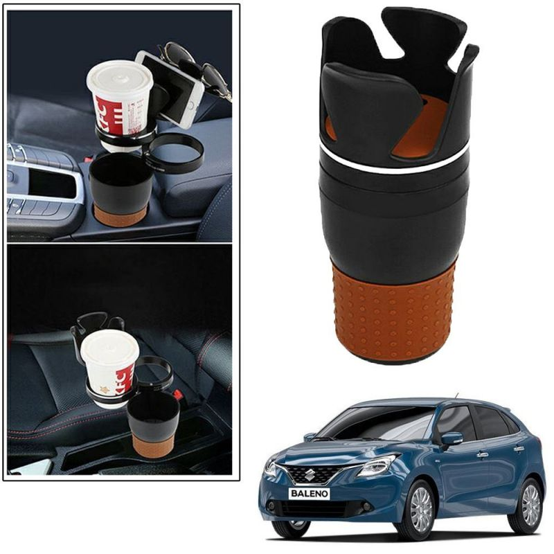 Buy Autoright 5-in-1 Car Cup / Car Sunglass / Car Mobile Holder Storage Cup For Maruti Suziki Baleno online