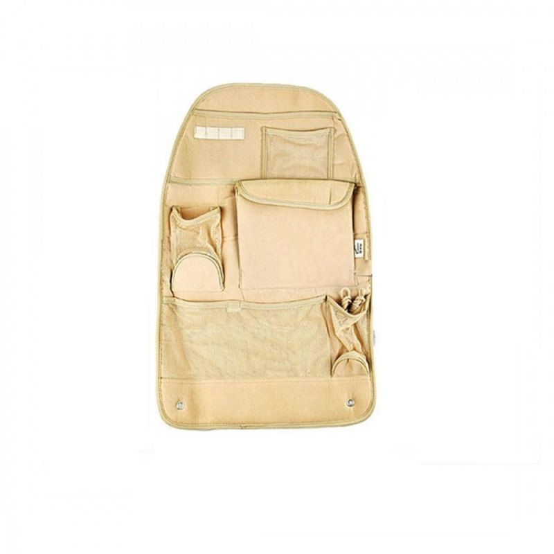 Buy Autoright Car Back Seats Pockets Organiser / Multi-pocket Hanging Organiser Beige For Mahindra Thar online