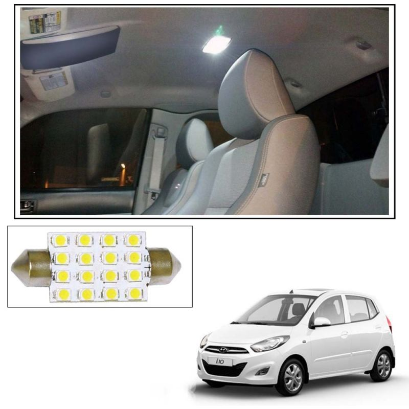 Buy Autoright 16 Smd LED Roof Light White Dome For Hyundai I10 Online