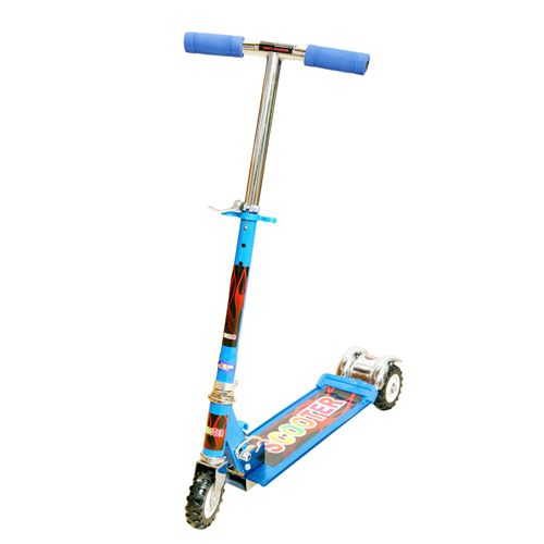 Buy Wheel Power Three Wheel Scooter Blue With Key Ring online