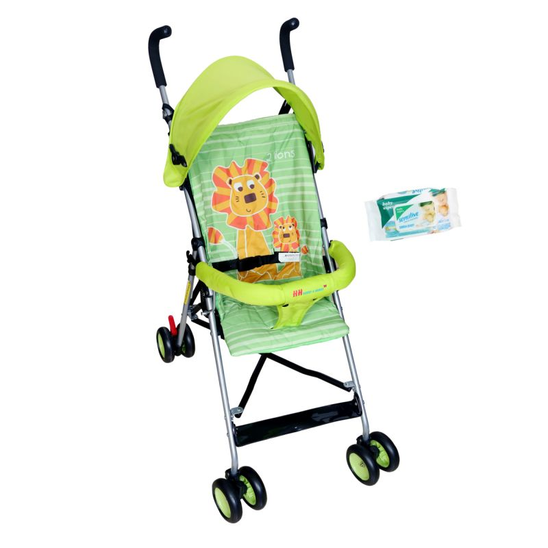 Buy Hh Harry & Honey Lion Baby Pram Green online