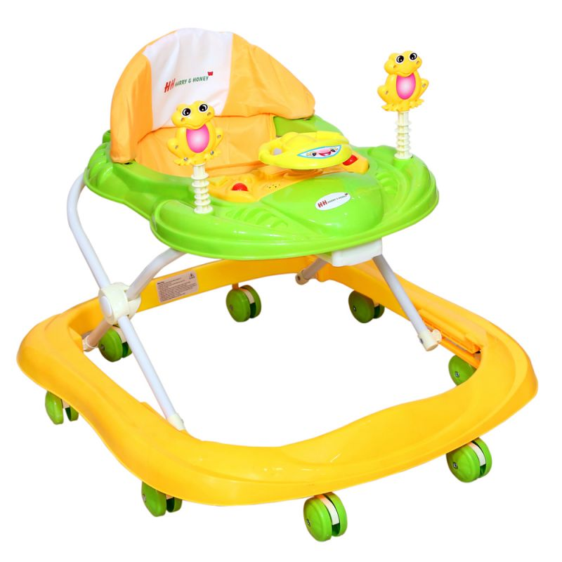 Buy Harry & Honey Baby Musical Walker Yellow-green With Key Ring online