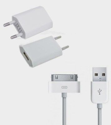 Buy Ags Apple iPhone 4, 4s, 4G Battery Charger (white) online