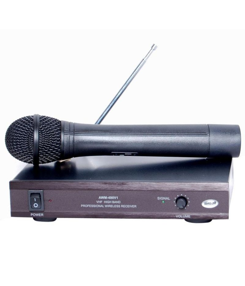 Buy Ahuja Professional Vhf Wireless Microphone Awm-490v1 online