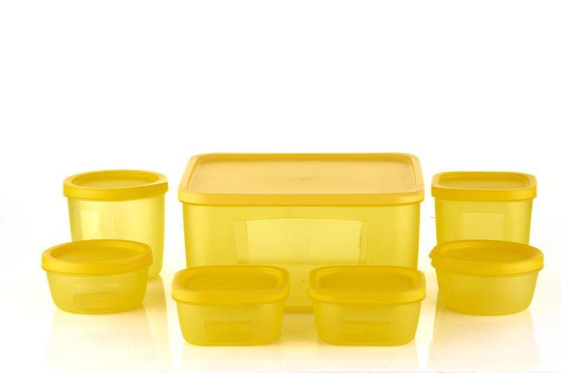 Buy Kreativekudie Best Cookware Dinnerware Mircowave Safe Set Of 7 Combo Container - 3500 Ml, 500 Ml, 400 Ml, 250 Ml, 250 Ml, 200 Ml, 200 Ml Plastic Multi online