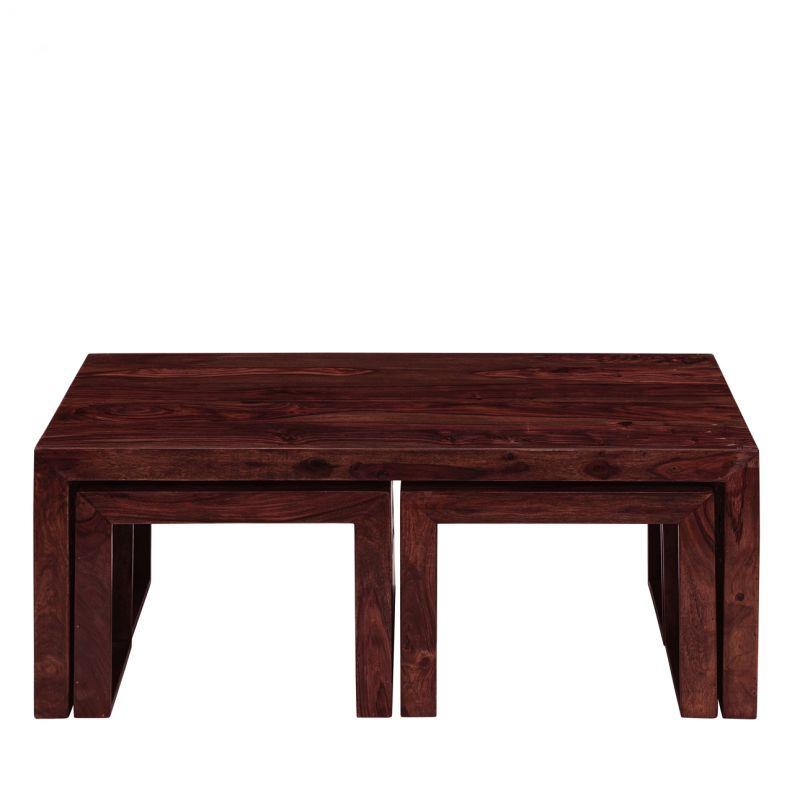 Inhouz Sheesham Wood Zig Zag Coffee Table 30