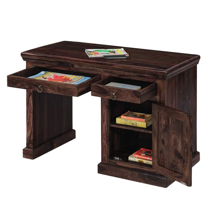 Buy Inhouz Sheesham Wood Century Study Table (walnut Finish) online