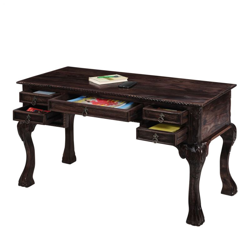 Buy Inhouz Sheesham Wood Victorious Study Table (walnut Finish) Online