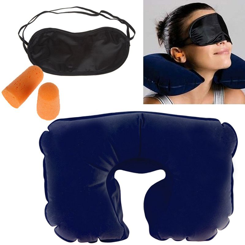 Buy 3-in-1 Travel Selection (comfort Neck Pillow, Travel Eyeshade & Travel Earplugs) online