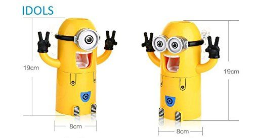 Buy Minions Automatic Toothpaste Dispenser 2 Toothbrush Holder Set online