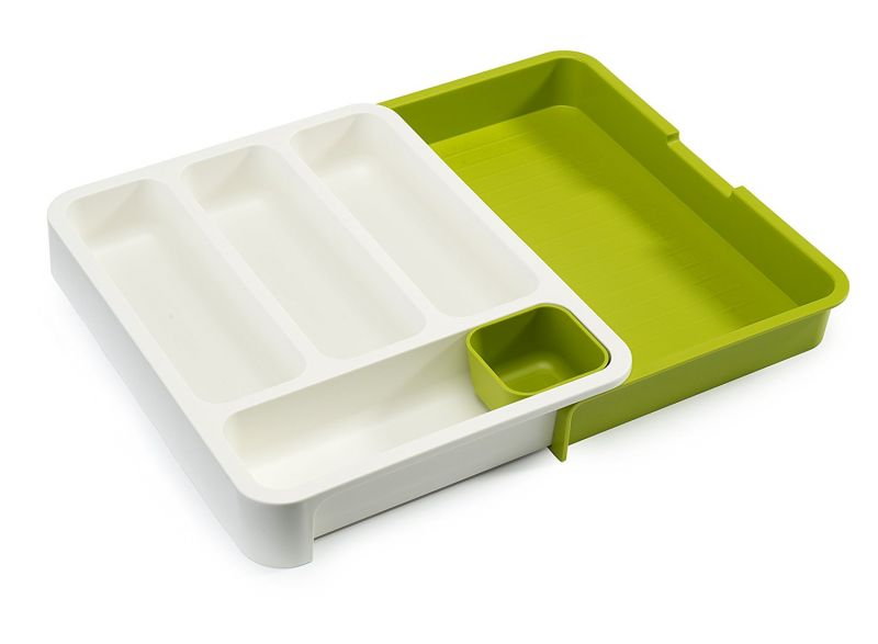 Buy Drawer Store Expandable Cutlery Tray, Green online