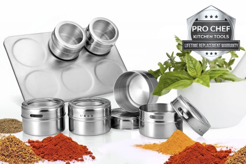 Buy Stainless Steel Spices Rack 6pc online