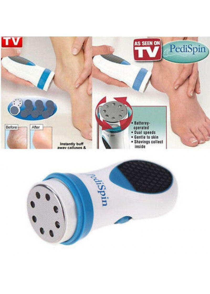 Buy Pedi Spin Electric Removes Pedicure Calluses Dry Dead Skin As Seen On TV online