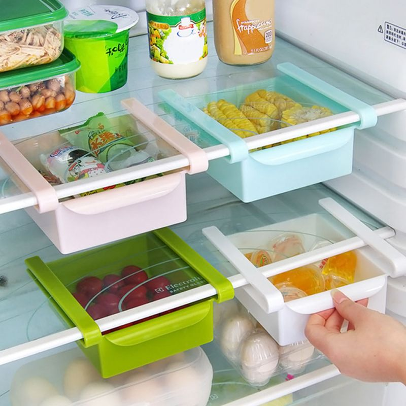 refrigerator racks. buy 2 x refrigerator fridge multi-partition storage rack fresh layer sliding drawer online | best prices in india: rediff shopping racks